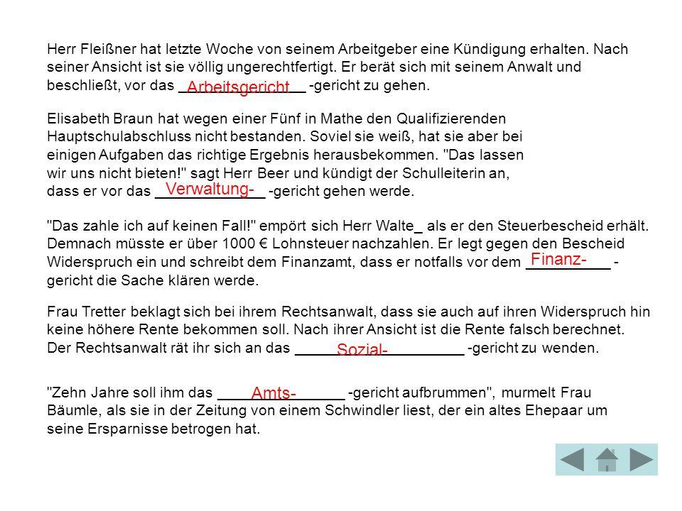 Arbeitsgericht Verwaltung- Finanz- Sozial- Amts-