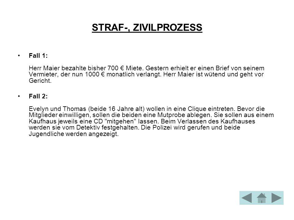 STRAF-, ZIVILPROZESS