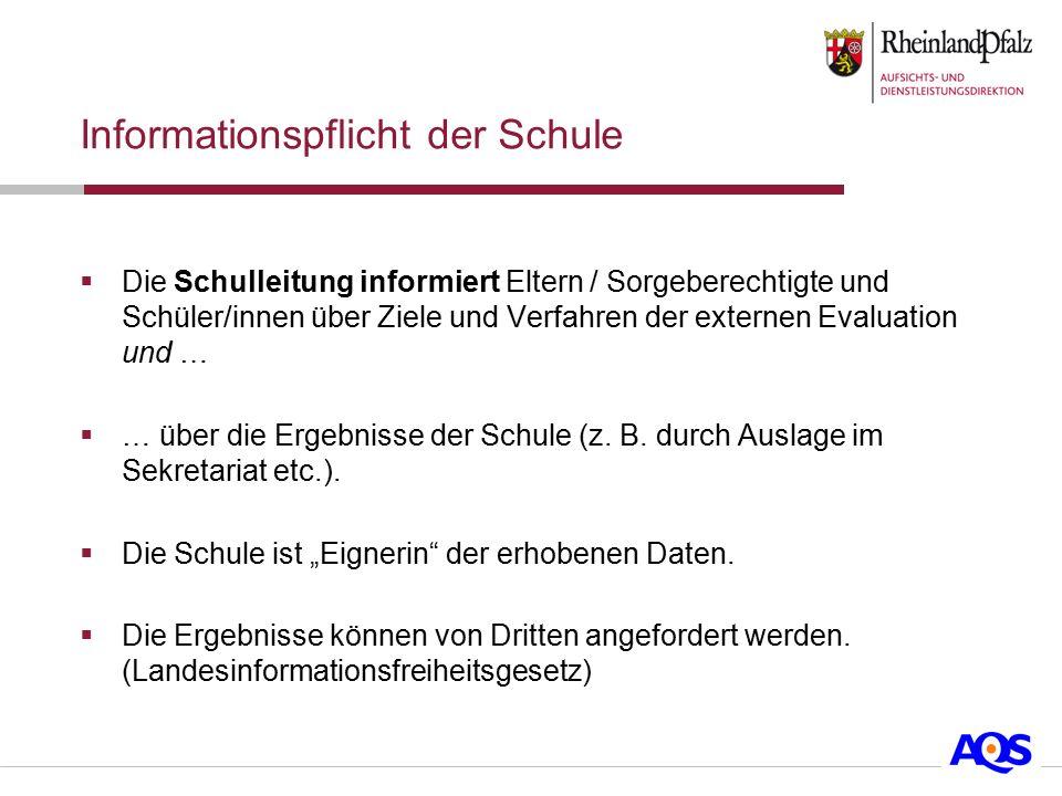 Informationspflicht der Schule