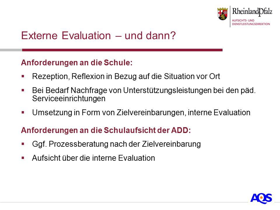 Externe Evaluation – und dann