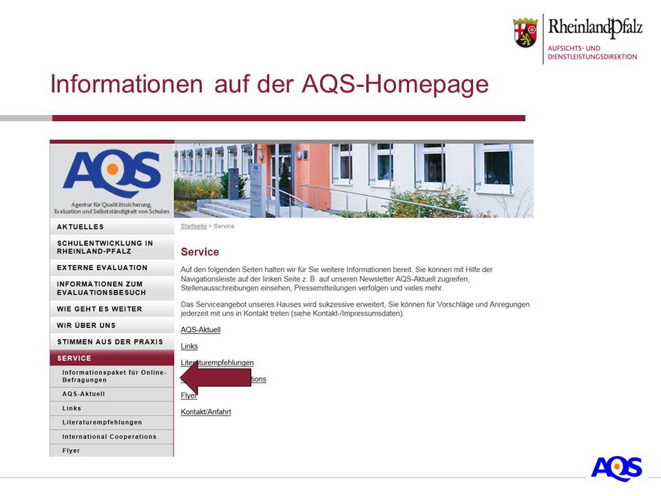 Informationen auf der AQS-Homepage