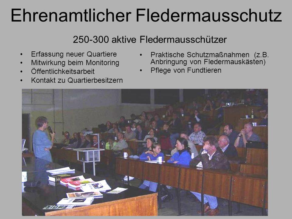 Ehrenamtlicher Fledermausschutz 250-300 aktive Fledermausschützer