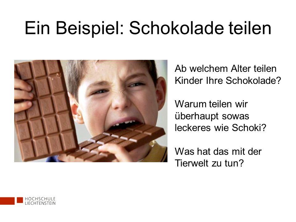 Ein Beispiel: Schokolade teilen