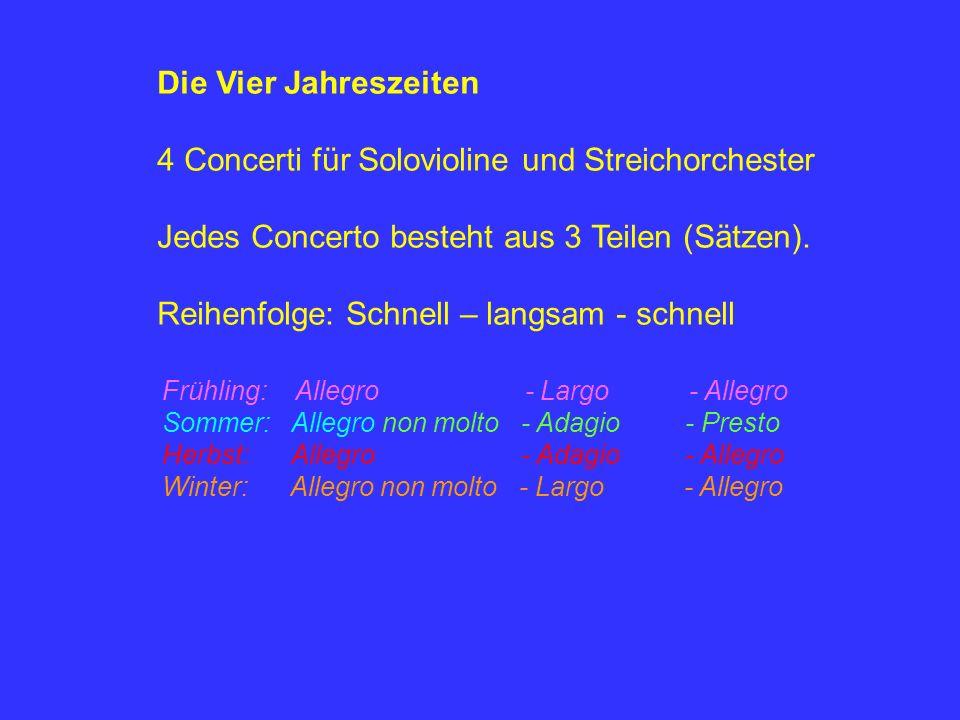 4 Concerti für Solovioline und Streichorchester
