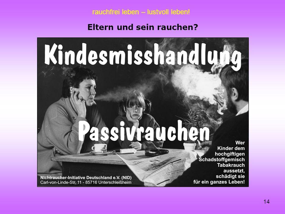 Eltern und sein rauchen