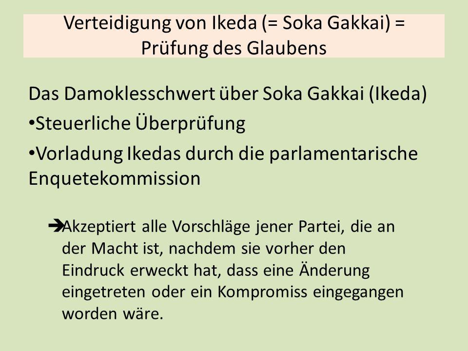 Verteidigung von Ikeda (= Soka Gakkai) = Prüfung des Glaubens