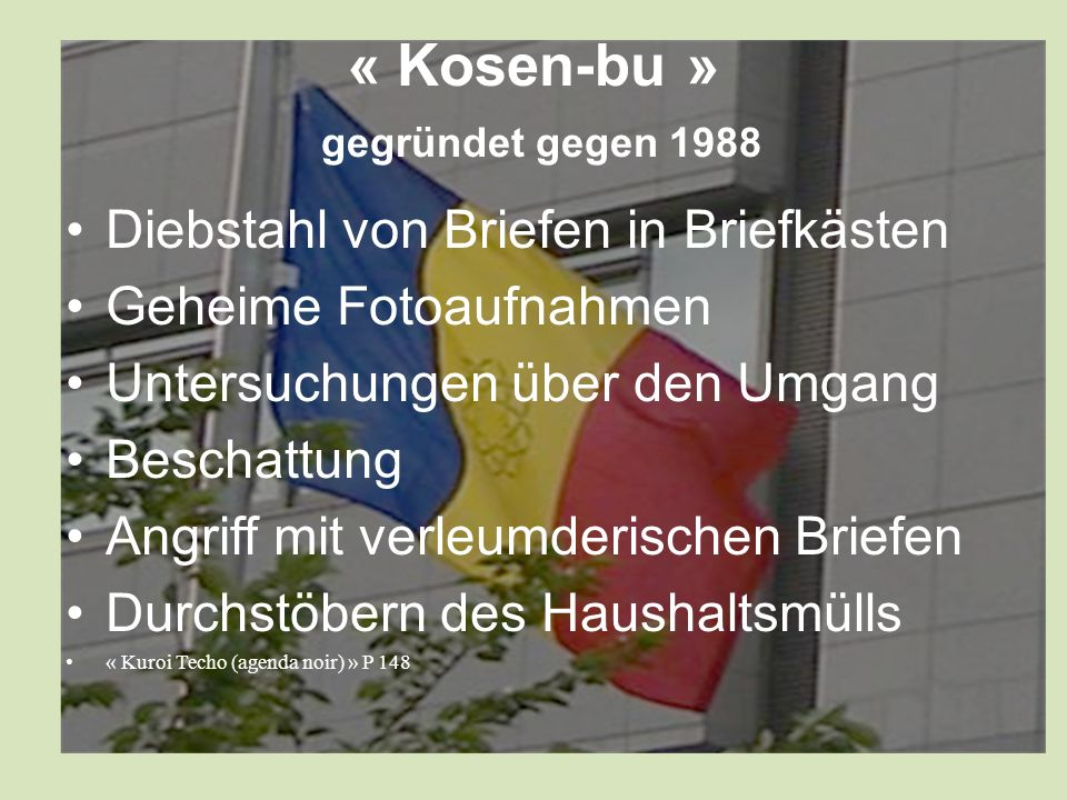 « Kosen-bu » gegründet gegen 1988
