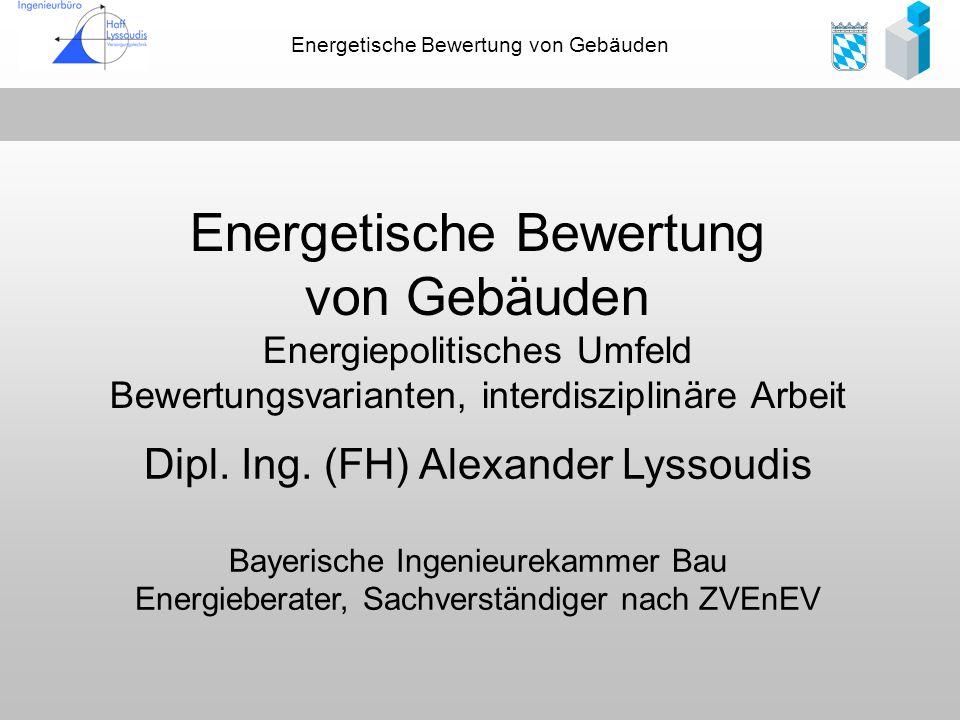 Energetische Bewertung von Gebäuden