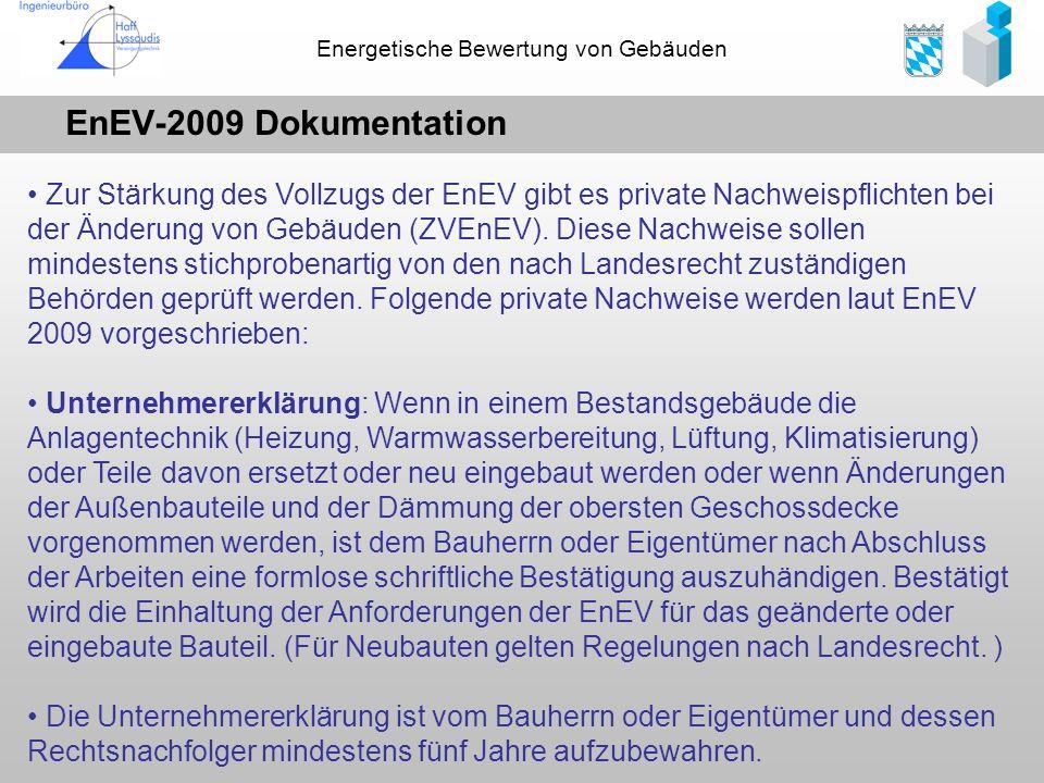 EnEV-2009 Dokumentation