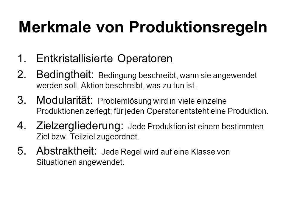 Merkmale von Produktionsregeln