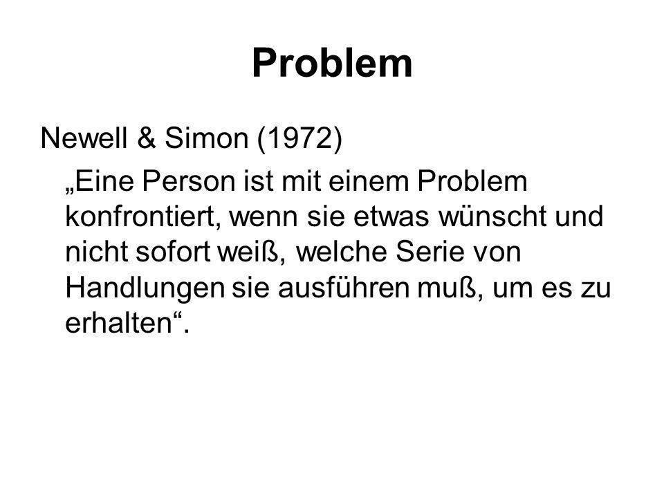 Problem Newell & Simon (1972)