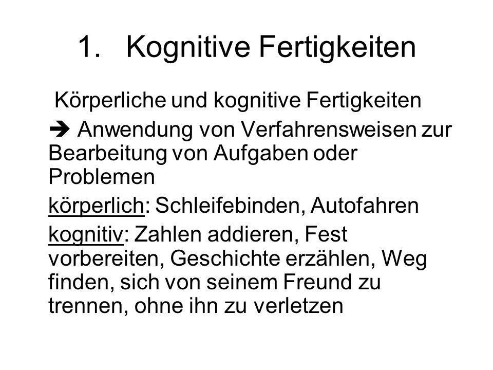 1. Kognitive Fertigkeiten
