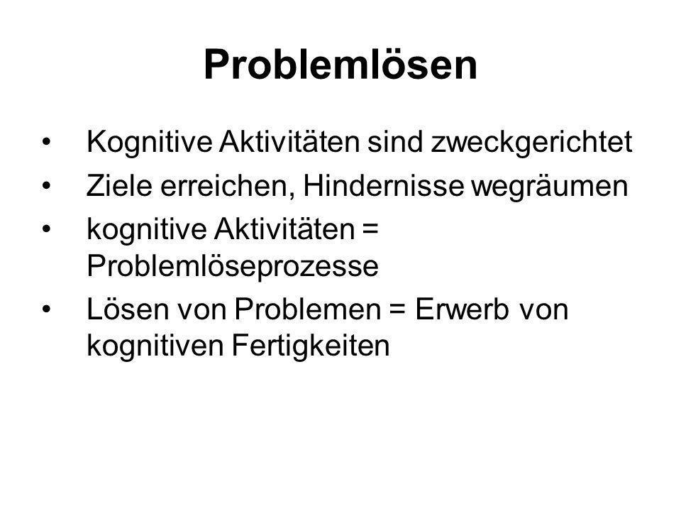 Problemlösen Kognitive Aktivitäten sind zweckgerichtet