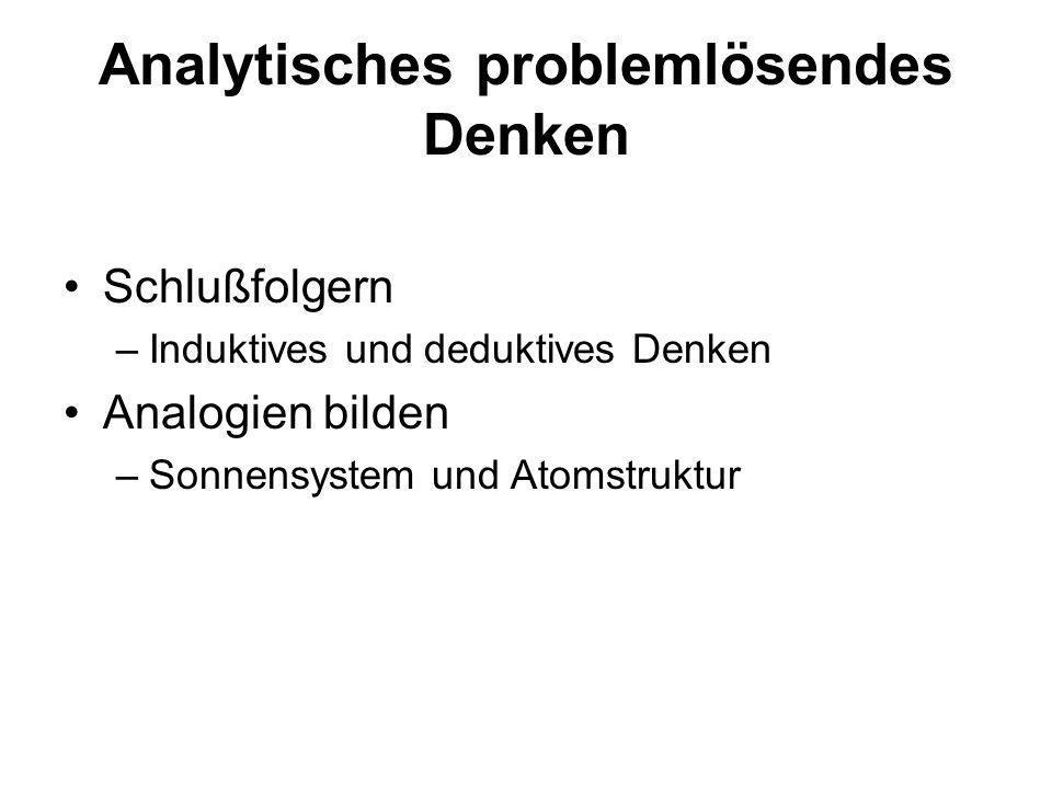 Analytisches problemlösendes Denken