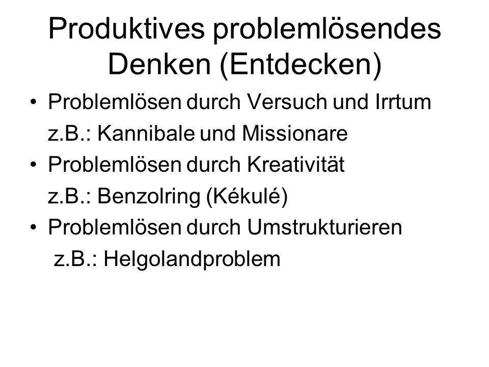 Produktives problemlösendes Denken (Entdecken)