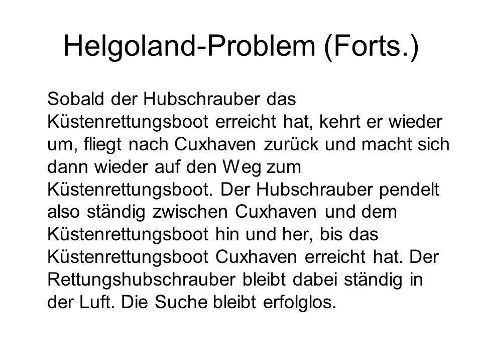Helgoland-Problem (Forts.)