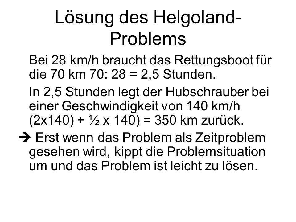 Lösung des Helgoland-Problems