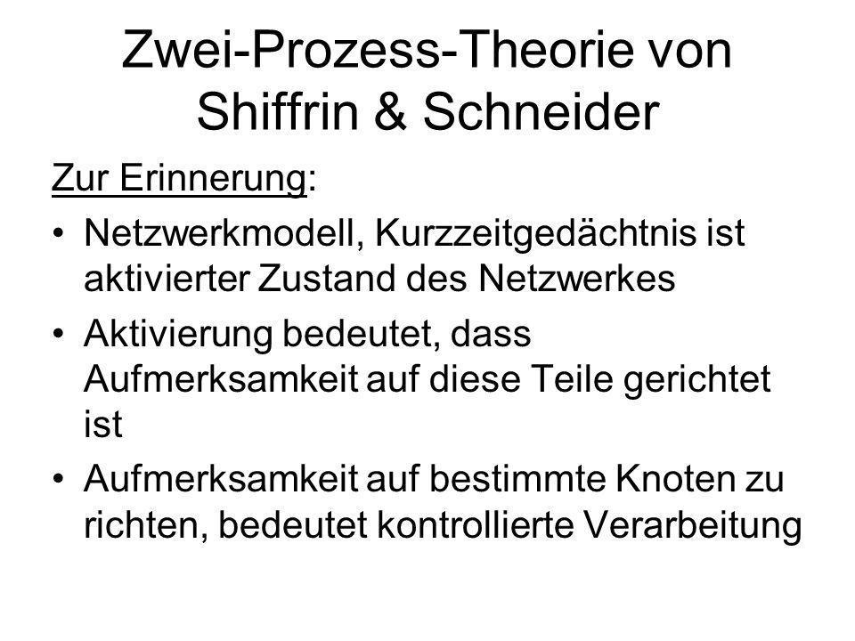 Zwei-Prozess-Theorie von Shiffrin & Schneider