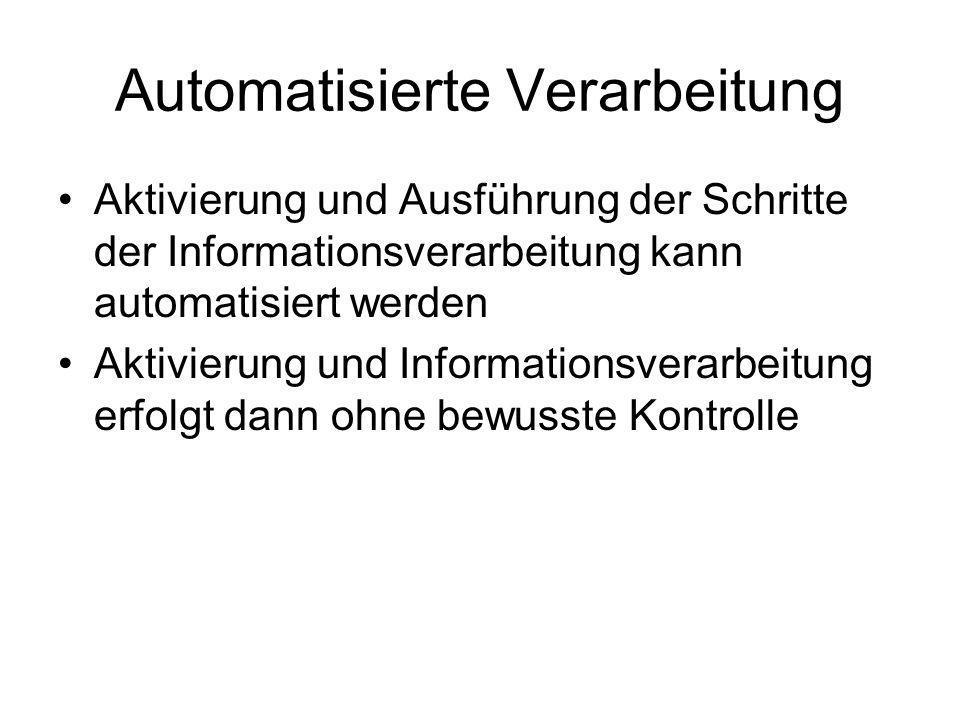 Automatisierte Verarbeitung