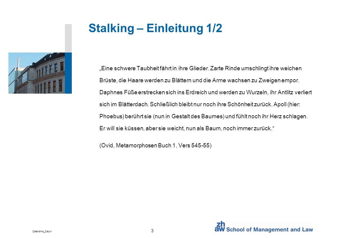 Stalking – Einleitung 1/2