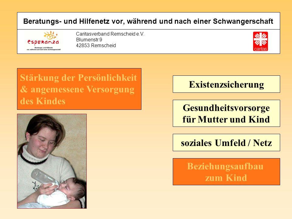Beratungs- und Hilfenetz vor, während und nach einer Schwangerschaft