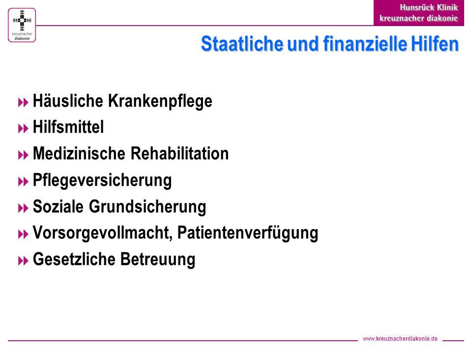 Staatliche und finanzielle Hilfen