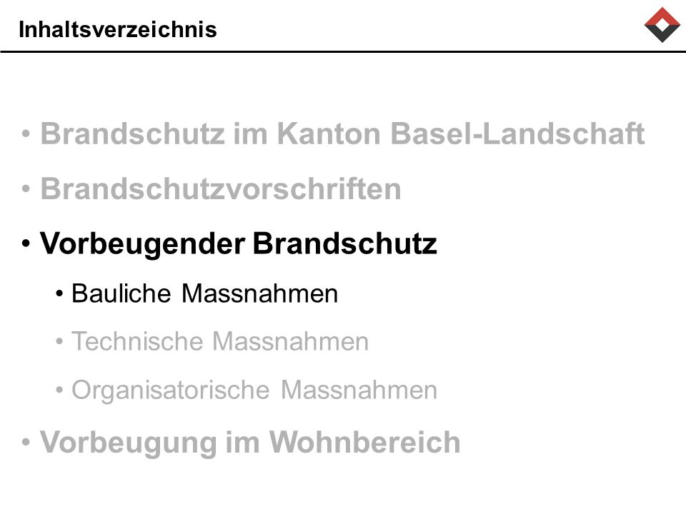 Brandschutz im Kanton Basel-Landschaft
