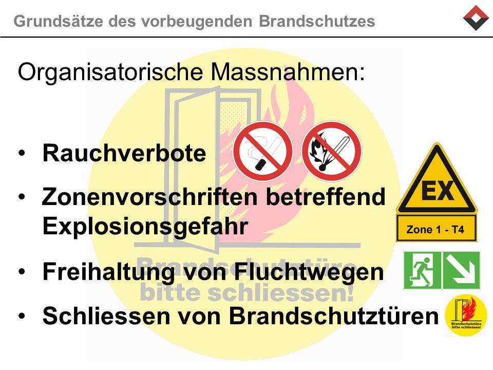 Grundsätze des vorbeugenden Brandschutzes