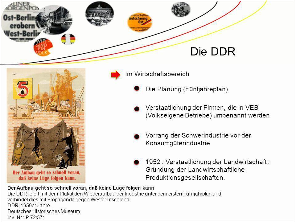 Die DDR Im Wirtschaftsbereich Die Planung (Fünfjahreplan)