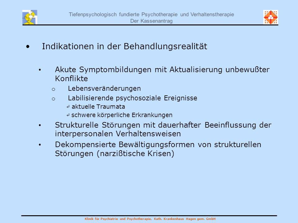 Indikationen in der Behandlungsrealität