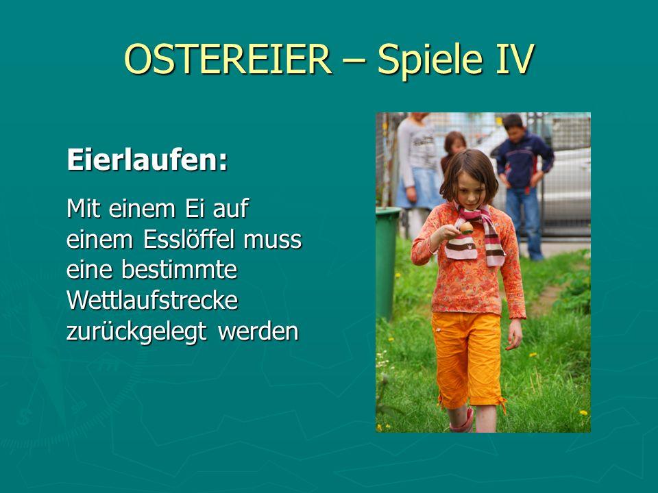 OSTEREIER – Spiele IV Eierlaufen: