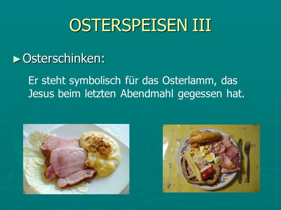OSTERSPEISEN III Osterschinken: