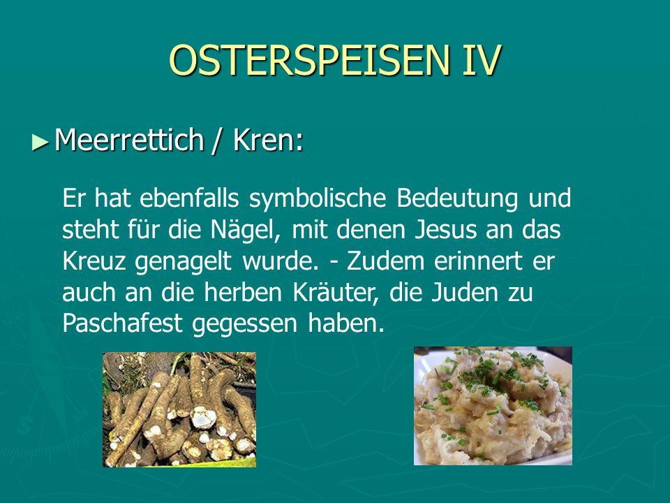 OSTERSPEISEN IV Meerrettich / Kren: