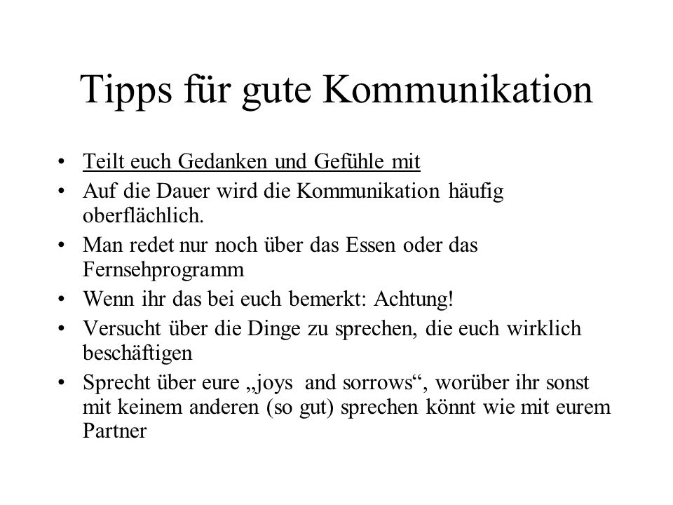 Tipps für gute Kommunikation