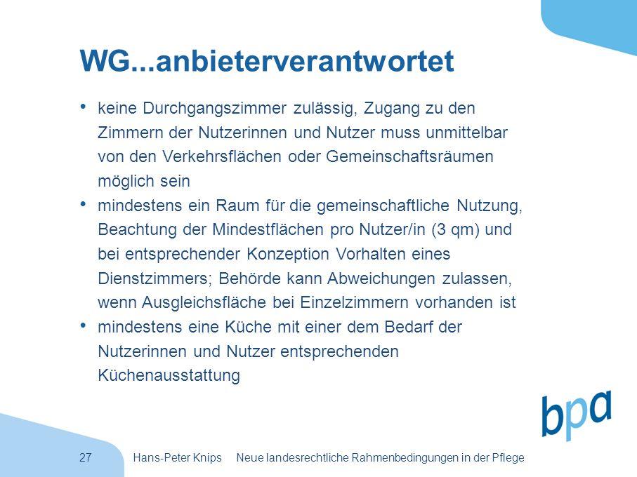 WG...anbieterverantwortet