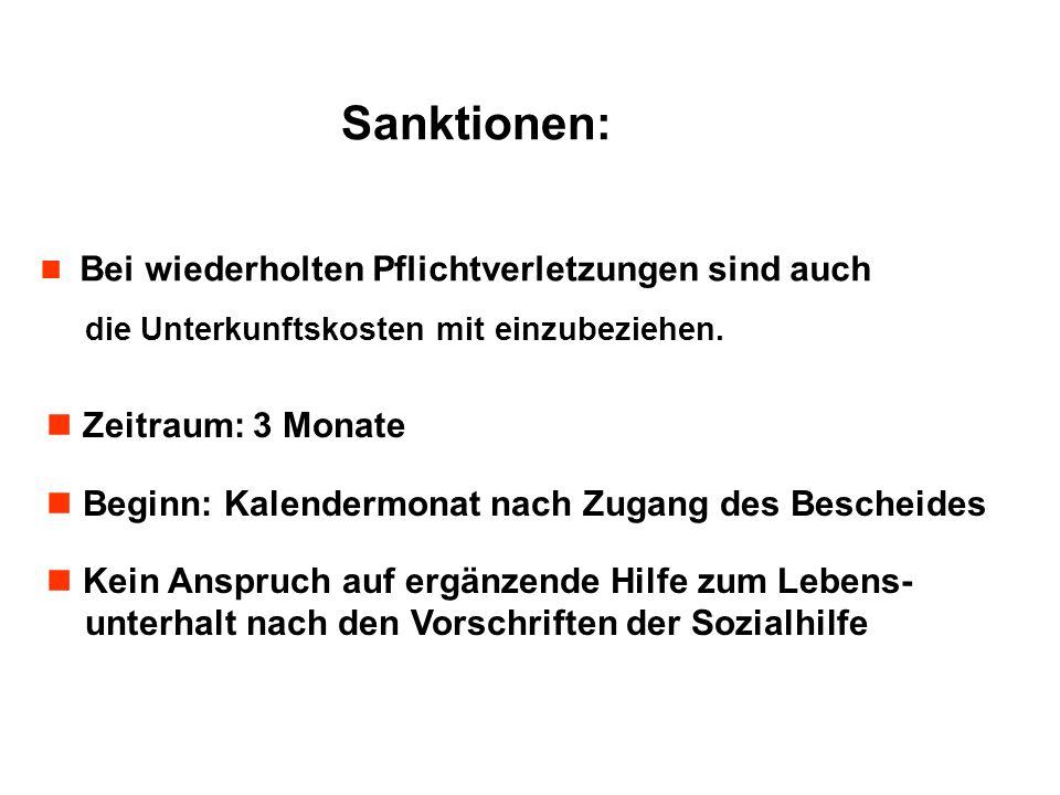 Sanktionen: Zeitraum: 3 Monate