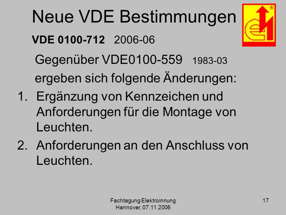 Neue VDE Bestimmungen VDE 0100-712 2006-06