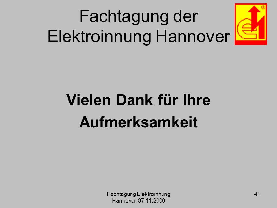 Fachtagung der Elektroinnung Hannover