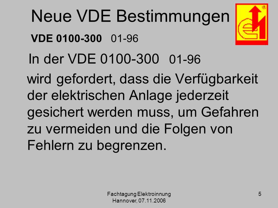 Neue VDE Bestimmungen VDE 0100-300 01-96