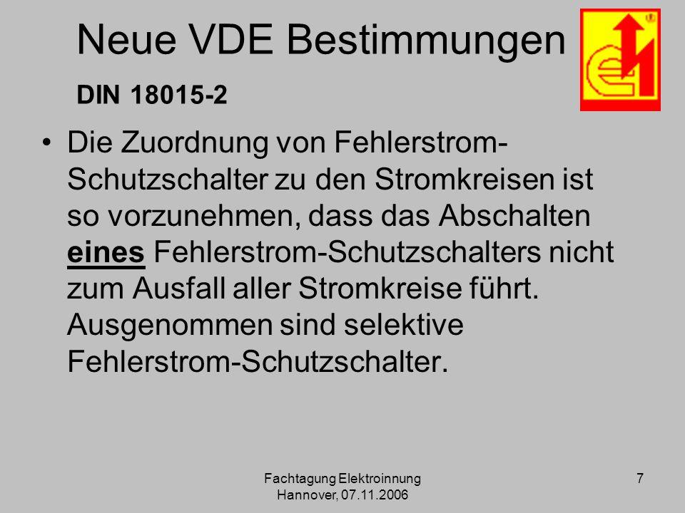 Neue VDE Bestimmungen DIN 18015-2