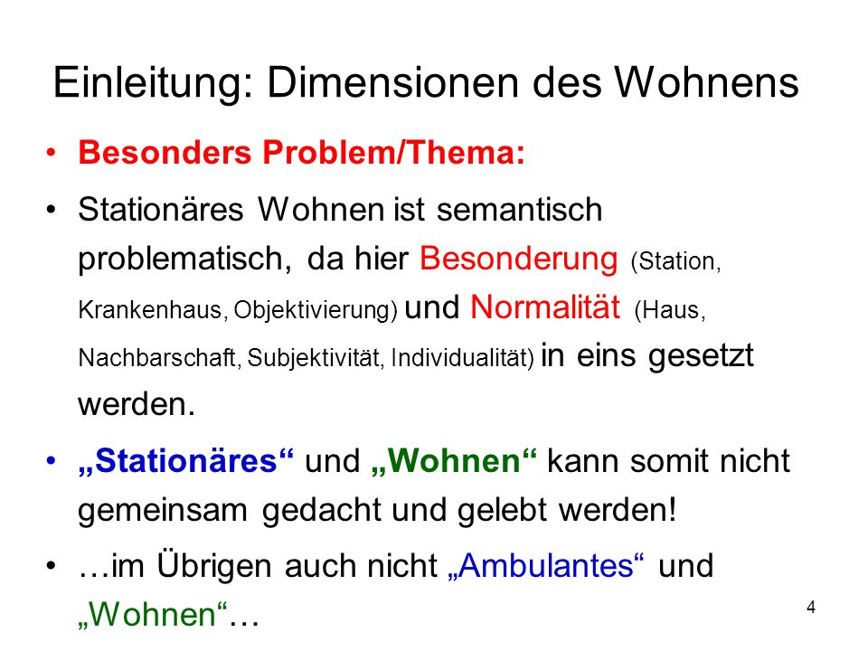 Einleitung: Dimensionen des Wohnens