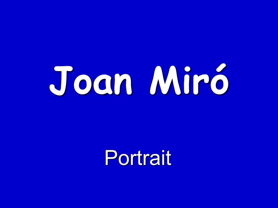 Joan Miró Portrait