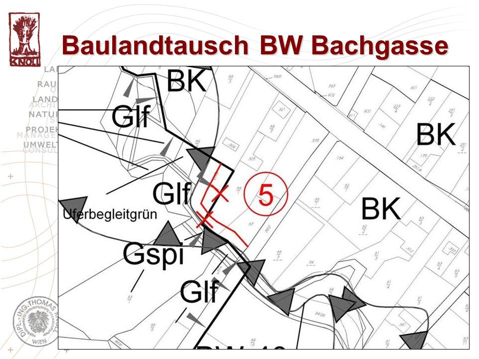 Baulandtausch BW Bachgasse