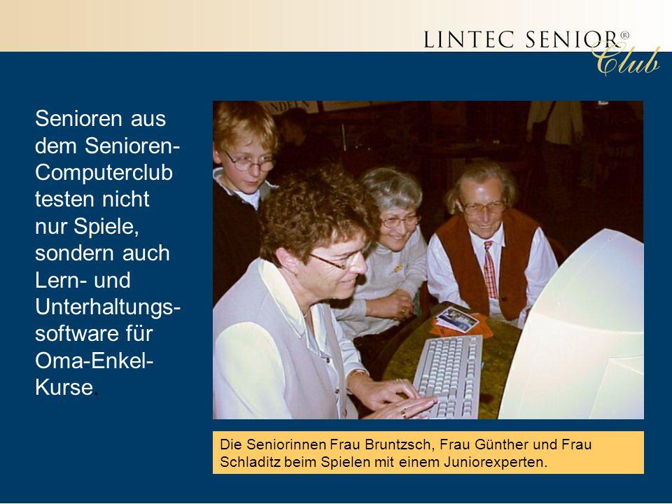 Senioren aus dem Senioren-Computerclub testen nicht nur Spiele, sondern auch Lern- und Unterhaltungs-software für Oma-Enkel-Kurse.