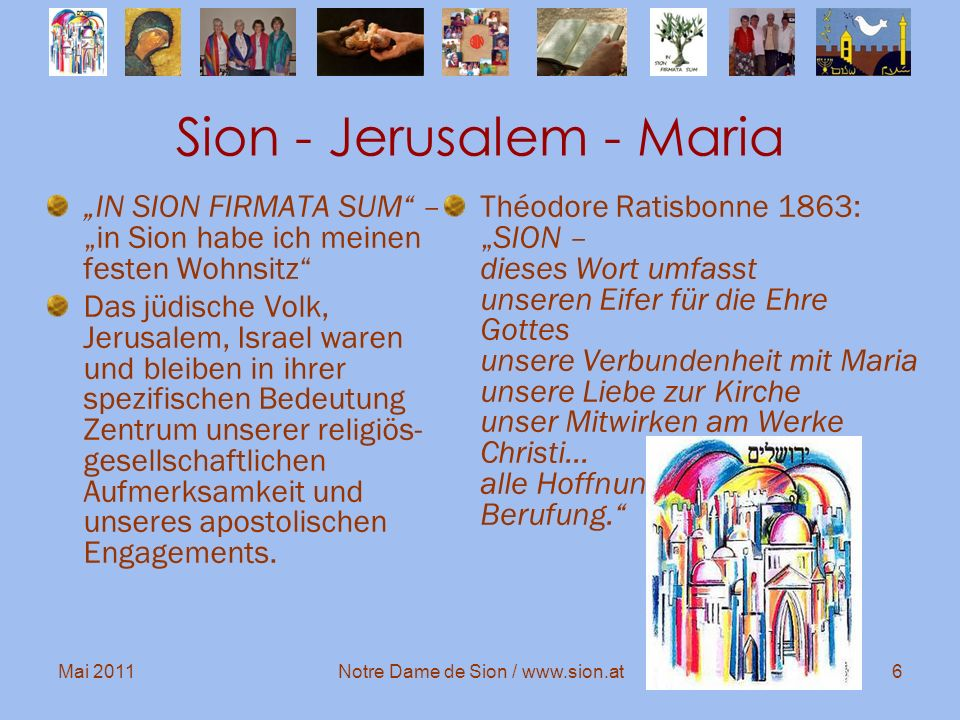 Sion - Jerusalem - Maria