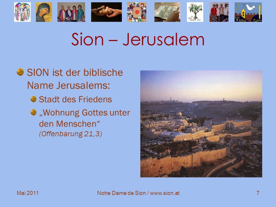 Notre Dame de Sion / www.sion.at