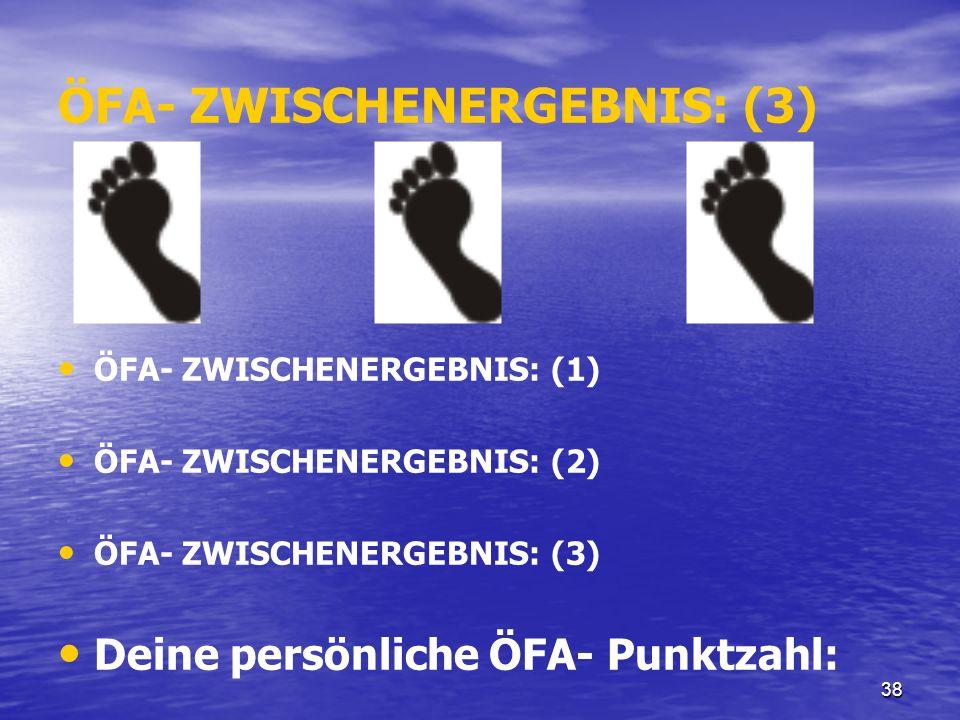 ÖFA- ZWISCHENERGEBNIS: (3)
