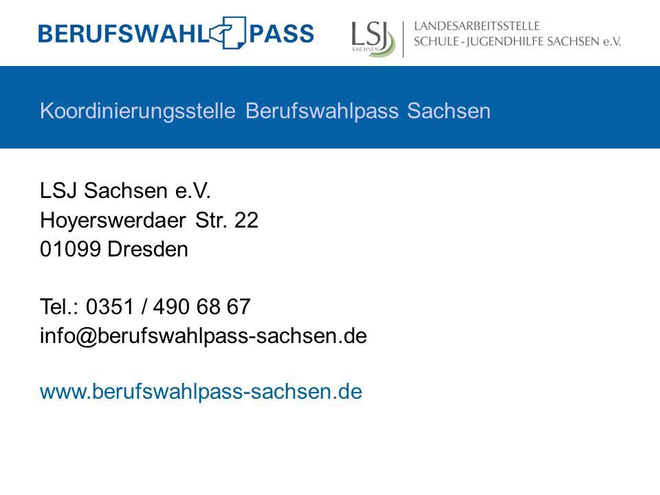 Koordinierungsstelle Berufswahlpass Sachsen