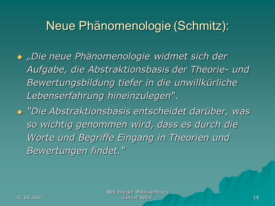 Neue Phänomenologie (Schmitz):