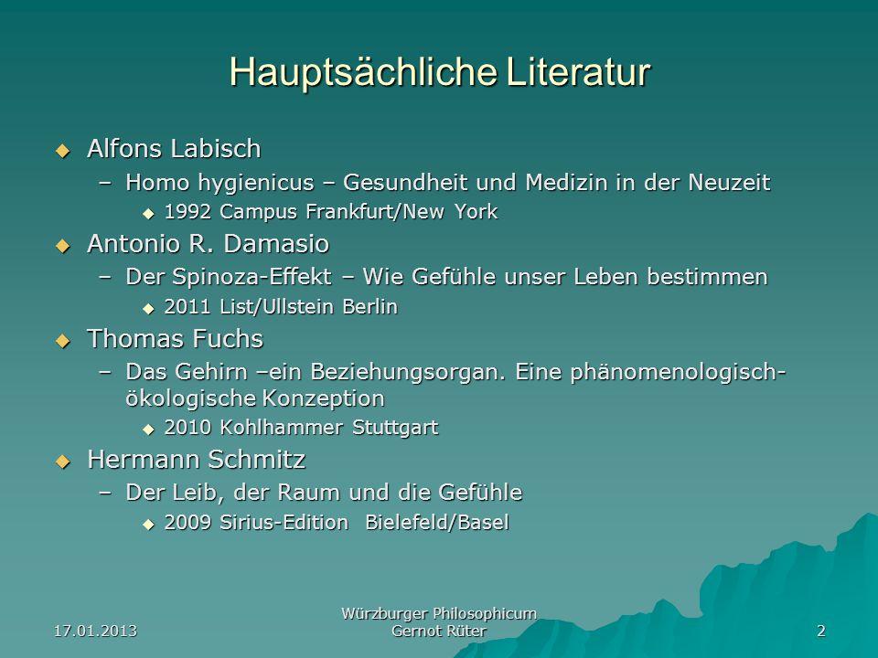 Hauptsächliche Literatur